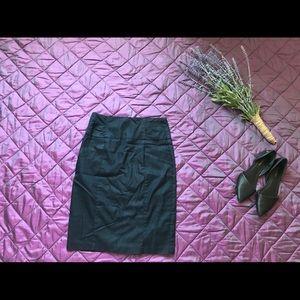 Dark blue pencil skirt